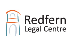 Redfern Legal Centre's logo - a stylised building graphic