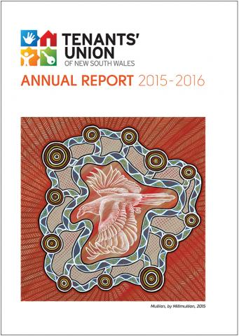 The cover of the Tenant's Union Annual Report