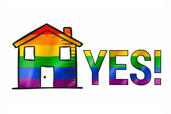 Rainbow house - yes!