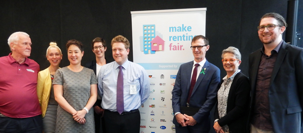 Make Renting Fair campaigners with MPs at a Parliamentary Briefing