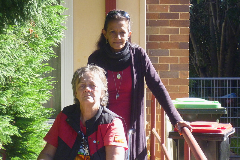 Carol Carter, Bankstown tenant, with Lorelle Corderoy, Tenant Advocate