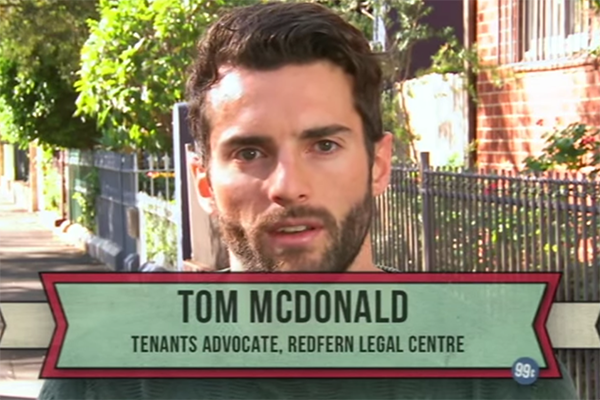 Redfern Legal Centre Tenants' Advocate Tom McDonald