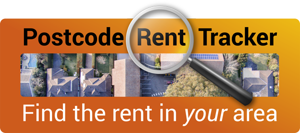 Postcode rent tracker. Find the rent in your area