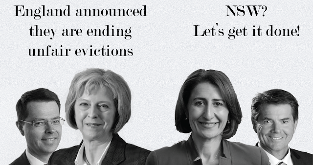Theresa May shows Gladys the way on eviction reform
