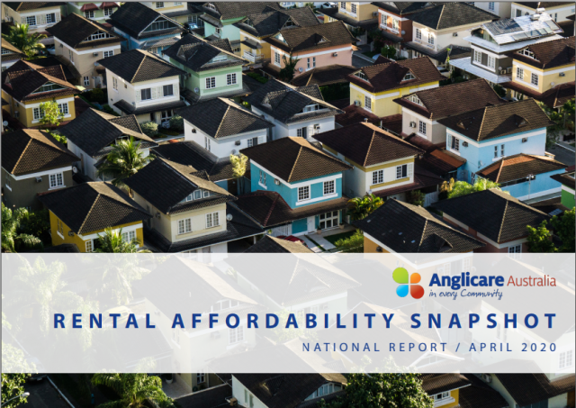 Cover of Anglicare Affordability snapshot