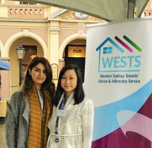 WESTS Tenant Advocates Fern and Ivana at Homelessness Week
