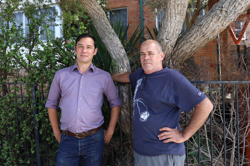 David Maloney (EATS Tenant Advocate) with David Bott.