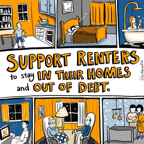 Support renters logo