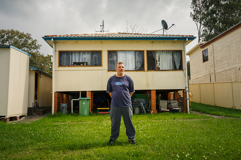 Geoff outside his Central Coast home
