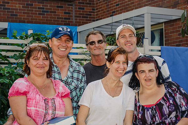Todd and Bent Street tenants in their garden