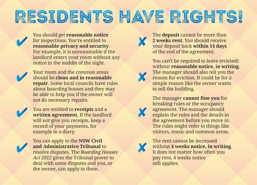 Residents Have Rights brochure excerpt